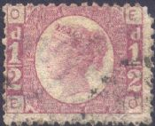 1870 ½d Rose SG49 Plate 12 'EO'